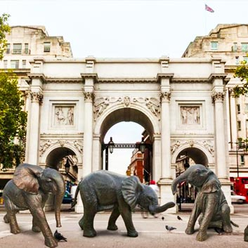 Life-size herd of bronze elephants to be unveiled at Marble Arch