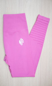 Leggings Seamless Stripes Rosa