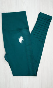 Leggings Seamless Stripes Verde