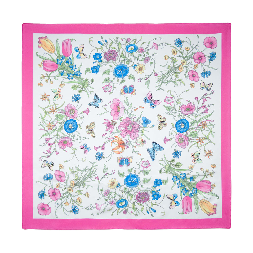 Gia Dellrose hot pink silk scarf