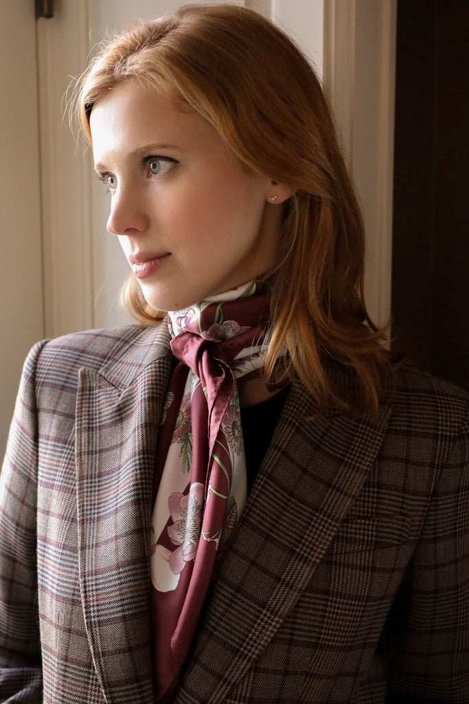 Dellrose Aida scarf in bordeaux