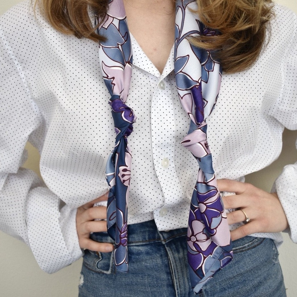 Dellrose Violetta scarf in purple