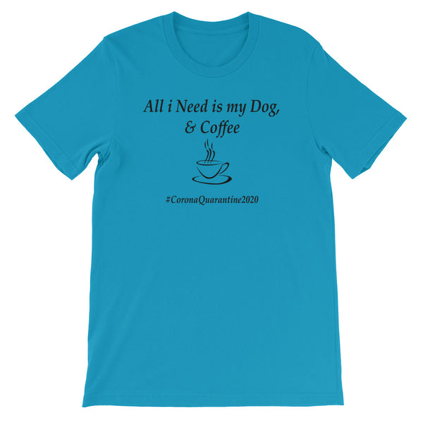 Dog and Coffee light Short-Sleeve Unisex T-Shirt