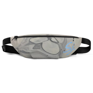 Sara J. logo  Grey Fanny Pack Art by Aimee.