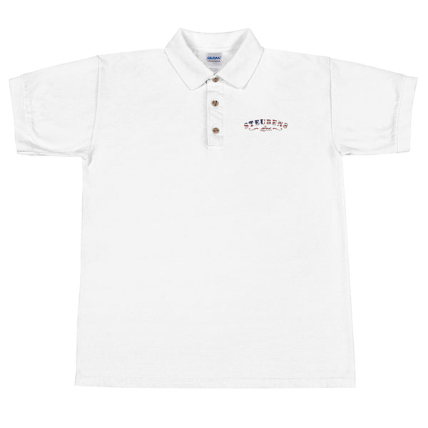 Patriotic logo Embroidered Polo Shirt