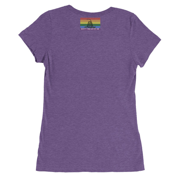 Ladies' Rainbow Logo short sleeve t-shirt