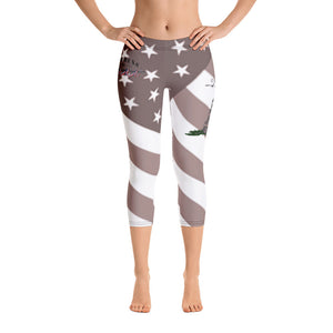 Ladies' Flag and Snek Capri Leggings