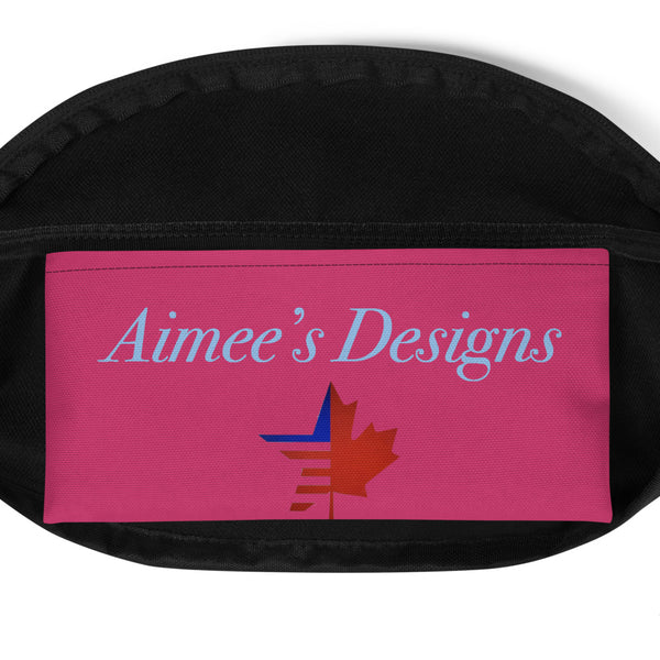 Pink Sara J. Fanny Pack W/ Aimee's Designs