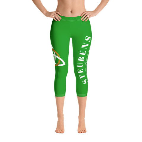 Green Celtic Ladies Capri Leggings