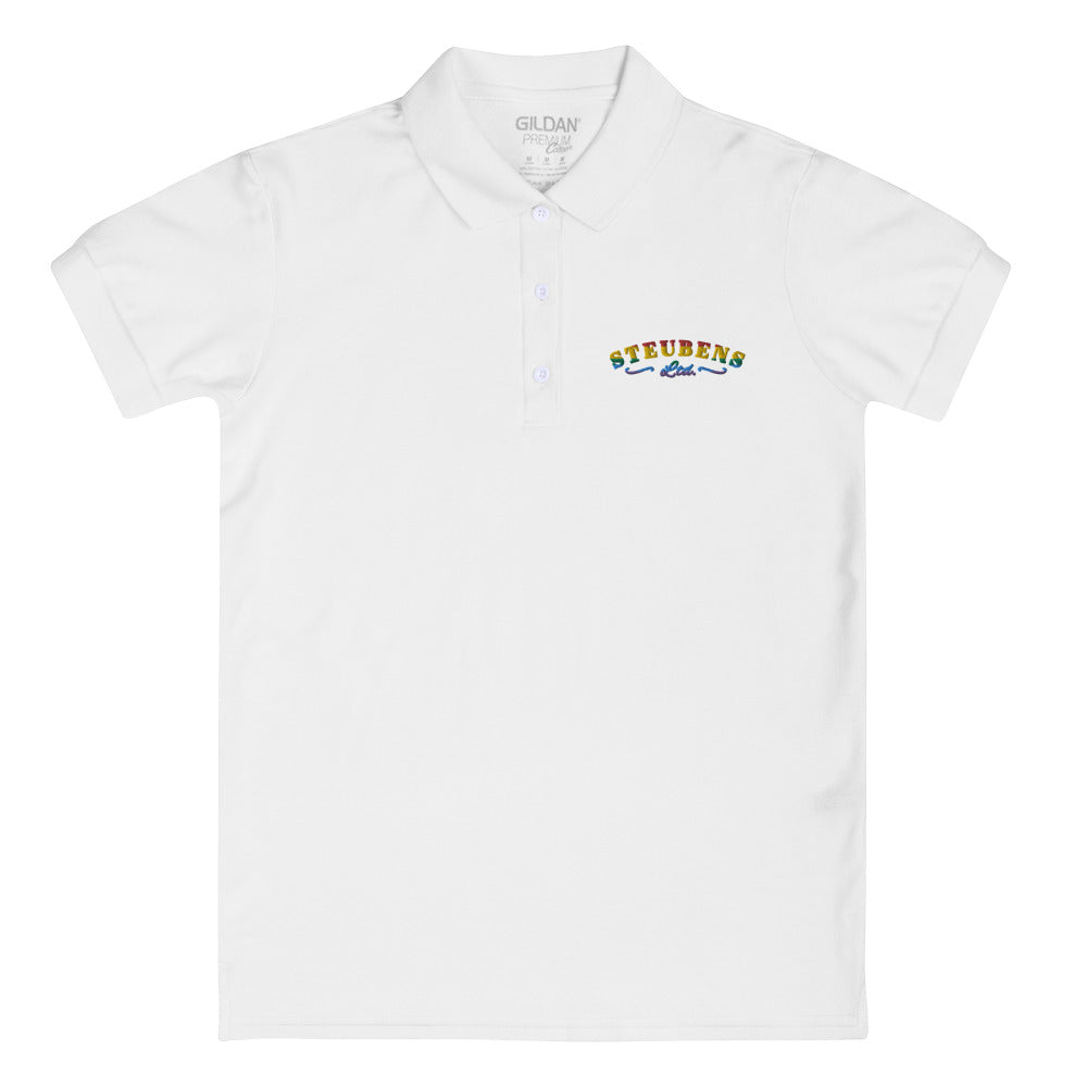 Pride Logo Embroidered Women's Polo Shirt