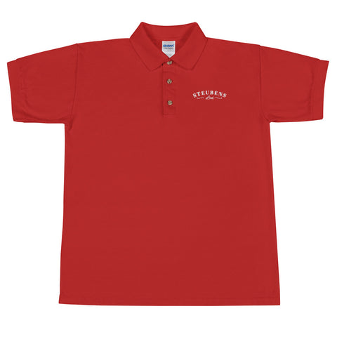Mens Heart Month Polo Red Embroidered Polo Shirt