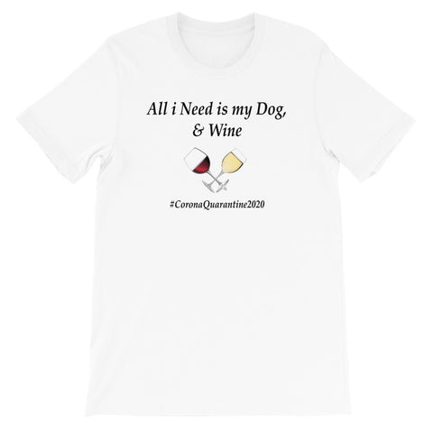Dog and Wine light Short-Sleeve Unisex T-Shirt