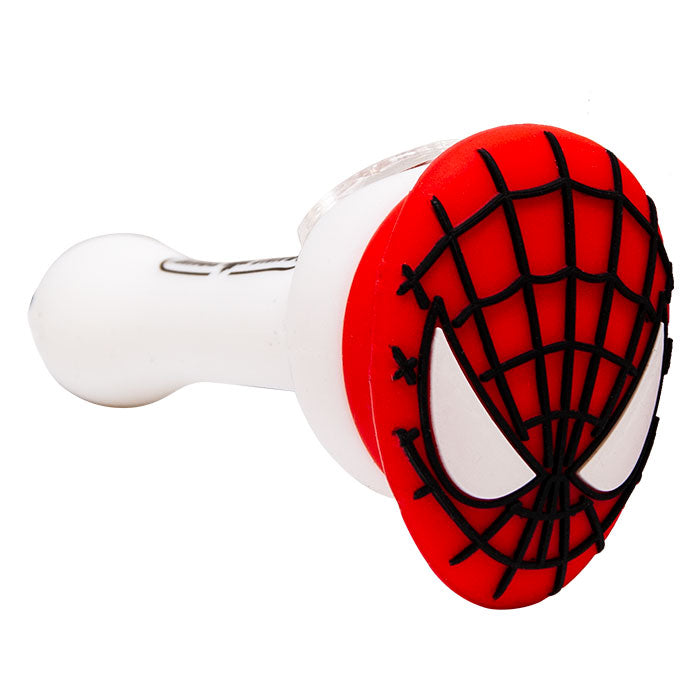 SPIDER-MAN SILICONE PIPE - RED