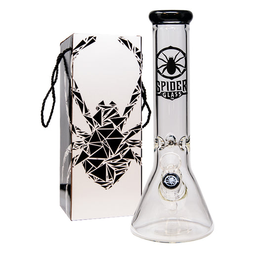 "SPIDER GLASS BONG 12"" BLACK/PINK"
