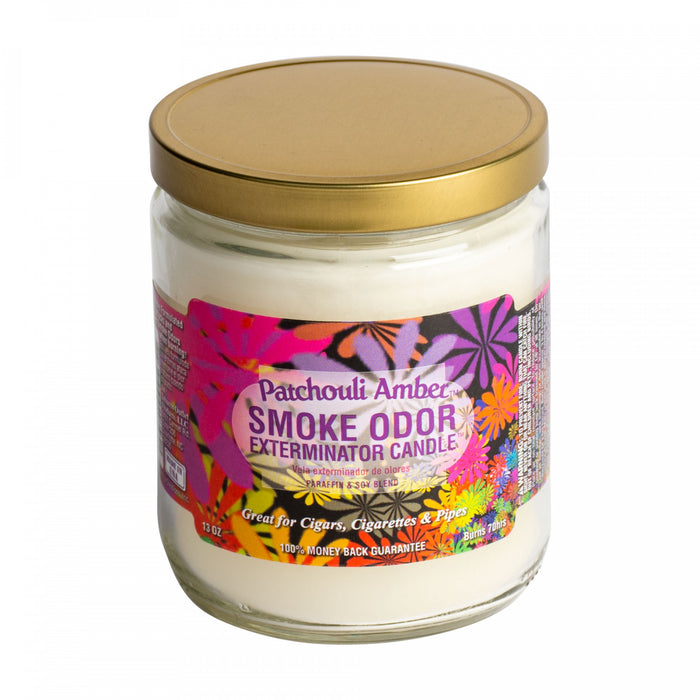 SMOKE ODOR EXTERMINATOR CANDLE - PATCHOULI AMBER