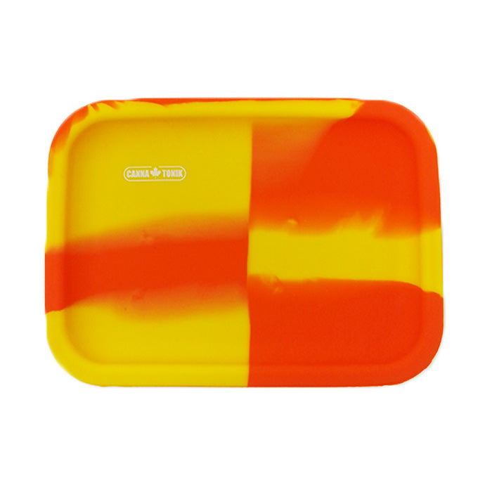 SILICONE DAB ROLLING TRAY - ORANGE/YELLOW
