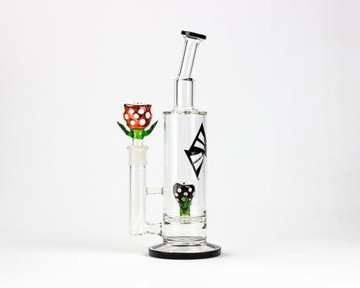 RED VENUS BUBBLER 12.5""