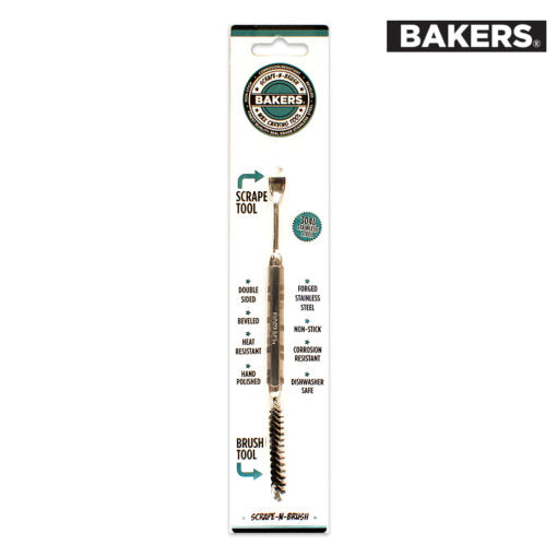 BAKERS TOOLS STAINLESS STEEL SCRAPE N BRUSH