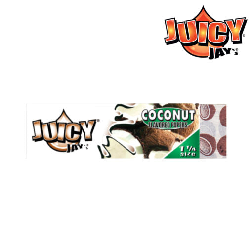 JUICY JAY'S 1¼ ROLLING PAPERS - COCONUT