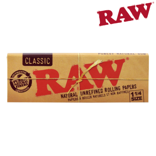 RAW 1¼ CLASSIC NATURAL UNREFINED HEMP PAPERS