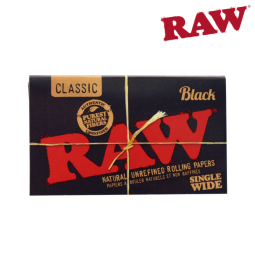 RAW BLACK SINGLE WIDE DOUBLE WINDOW ROLLING PAPERS