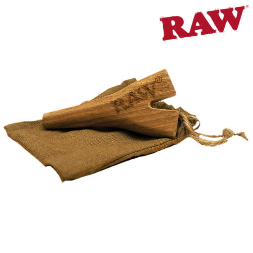 RAW DOUBLE BARREL WOODEN CIG HOLDER (SUPERNATURAL SIZE)