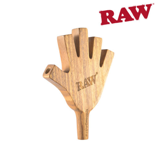 RAW FIVE ON IT WOODEN CONE HOLDER