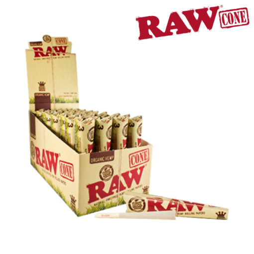 RAW ORGANIC PRE-ROLLED CONES KING SIZE 3 PACK