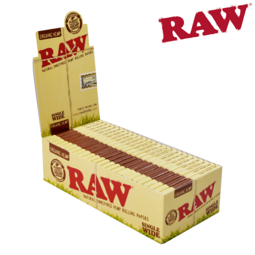 RAW ORGANIC HEMP SINGLE WIDE DOUBLE WINDOW ROLLING PAPERS