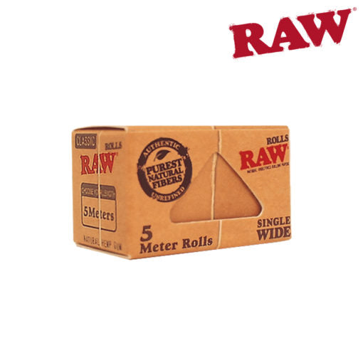 RAW CLASSIC UNREFINED ROLLS SINGLE WIDE - 5 METER ROLL