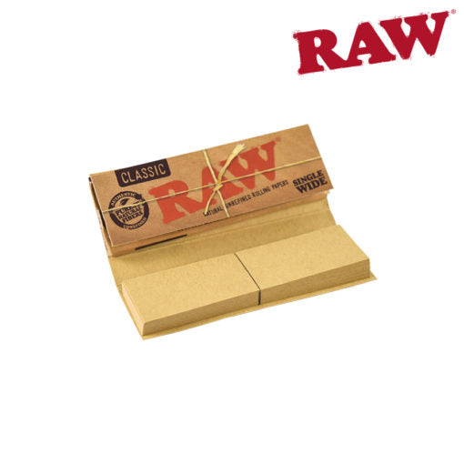 RAW CONNOISSEUR SINGLE WIDE PAPERS W/ TIPS