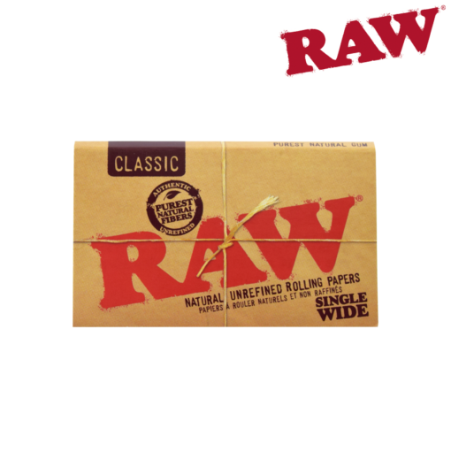 RAW CLASSIC SINGLE WIDE DOUBLE WINDOW ROLLING PAPERS