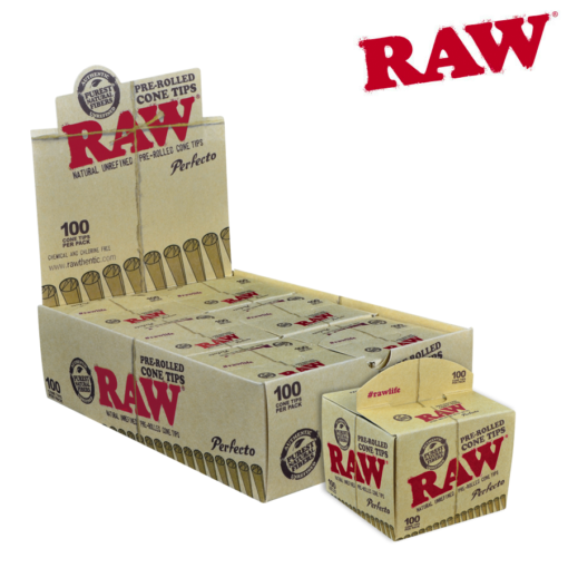 RAW PRE ROLLED CONE TIPS PERFECTO 100