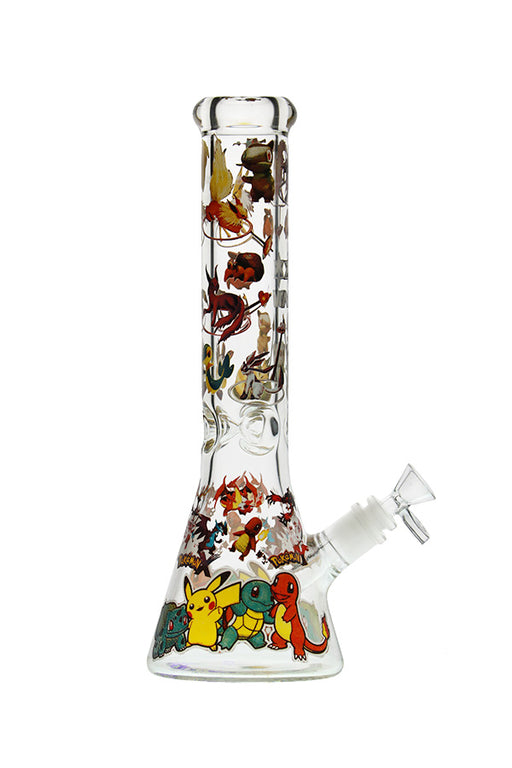 NICE GLASS POKEMON GO BEAKER BONG - 13""