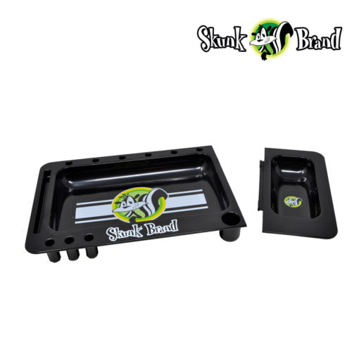 SKUNK TRANSLUCENT BLACK ROLLING TRAY