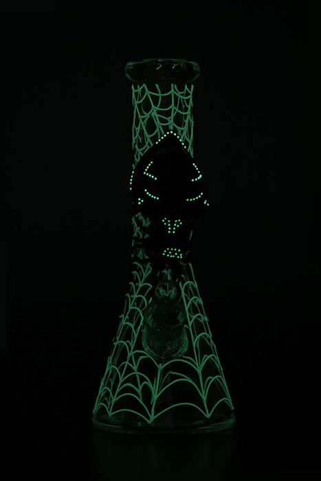 NICE GLASS VENOM GLOW-IN-THE-DARK BONG