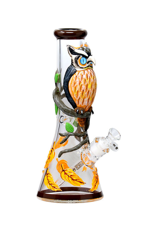 NICE GLASS KNOW-IT-OWL BONG - 3D WRAP