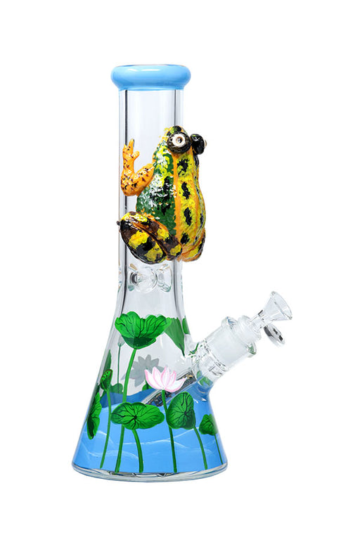 NICE GLASS MARSH FROG BEAKER BONG - 3D WRAP