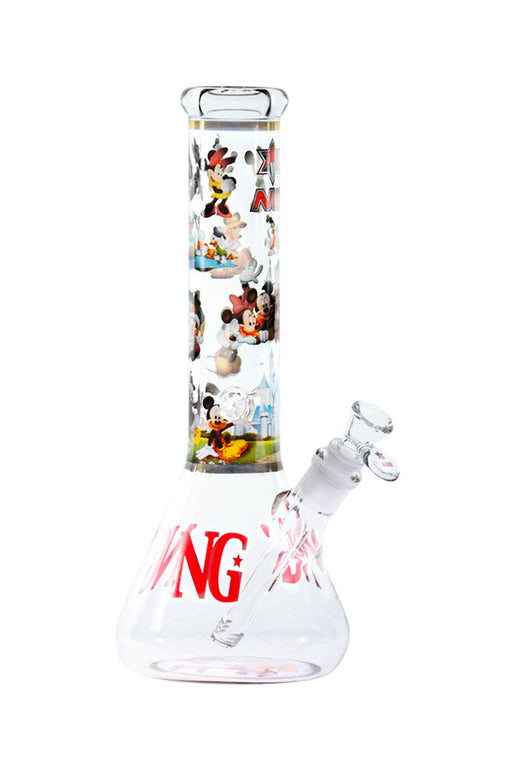 NICE GLASS DISNEY BEAKER BONG - 12""