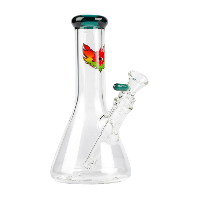 RED EYE GLASS BEAKER TUBE BONG 8""