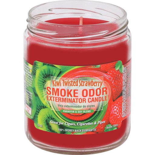 SMOKE ODOR EXTERMINATOR CANDLE - KIWI TWISTED STRAWBERRY