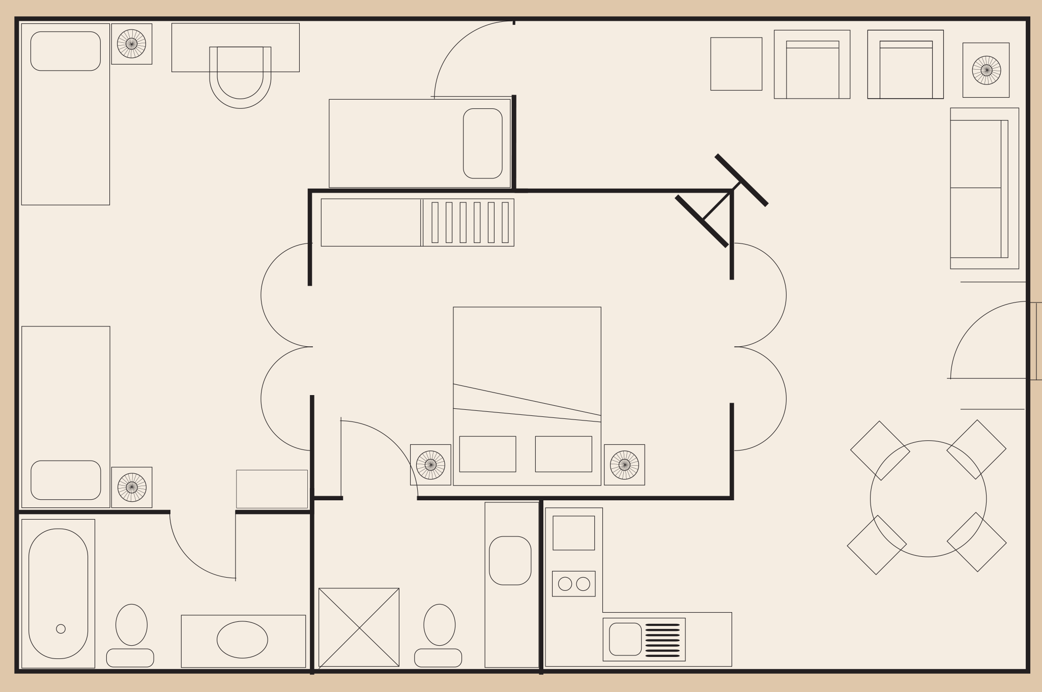 Cable Beach Club bungalow 125 layout