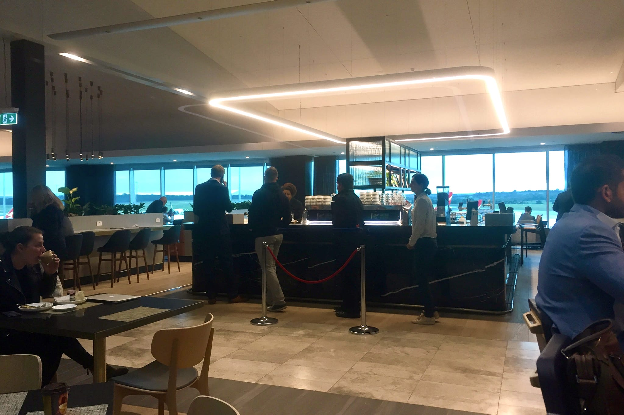 Qantas Business Class Lounge Melbourne Coffee