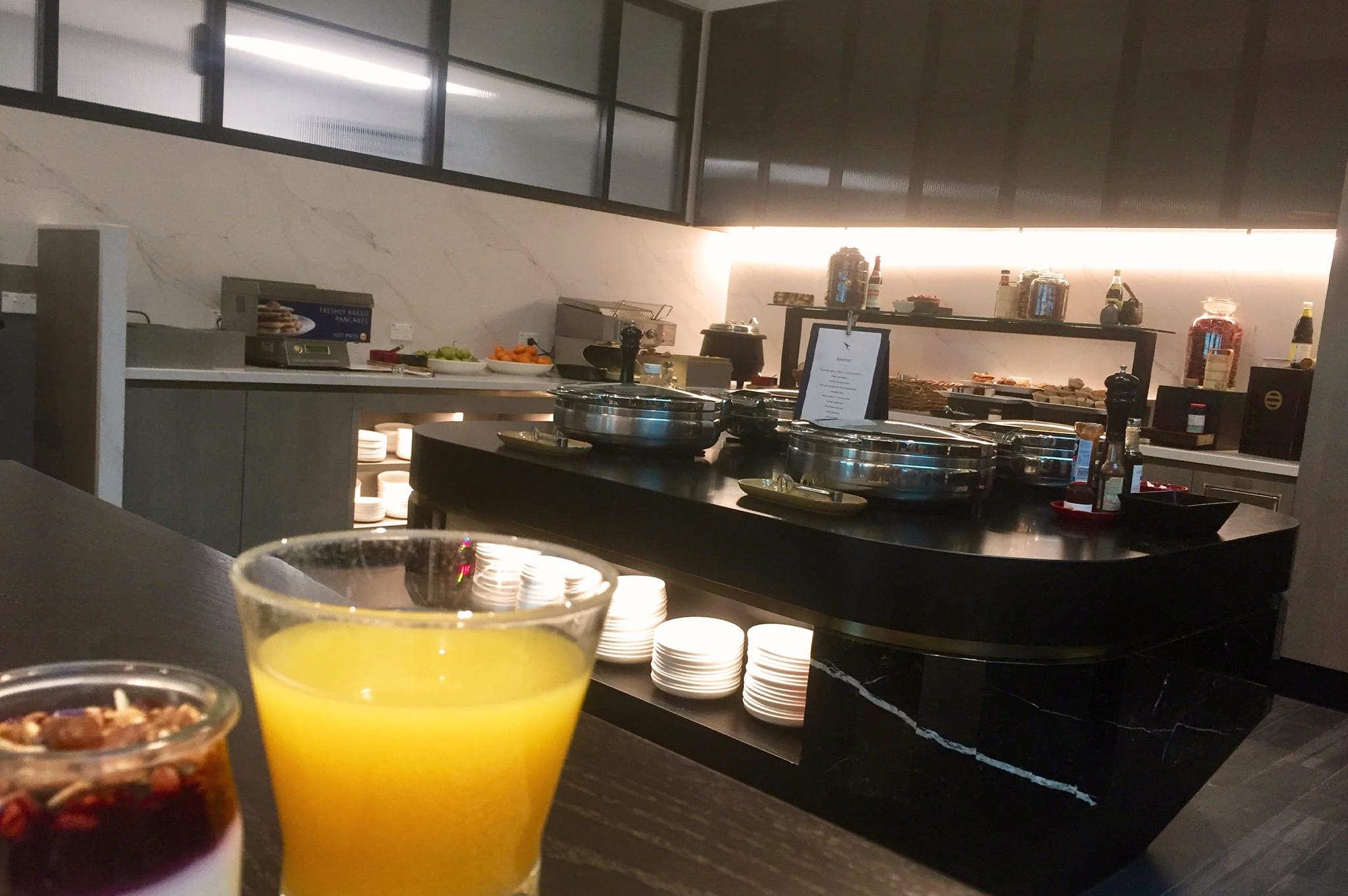 Qantas Business Class Lounge Melbourne Breakfast