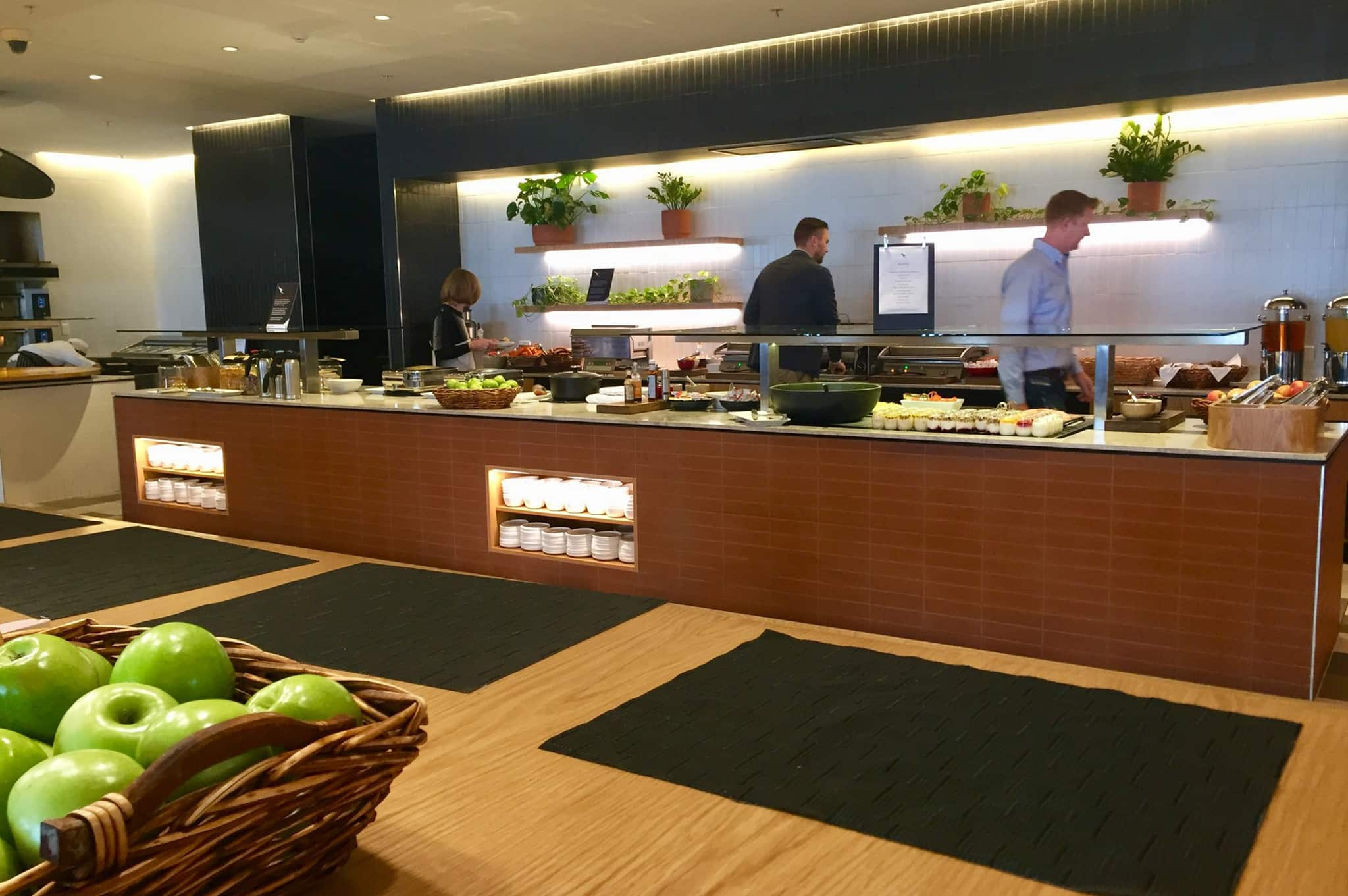 Qantas Business Class Lounge Perth Food