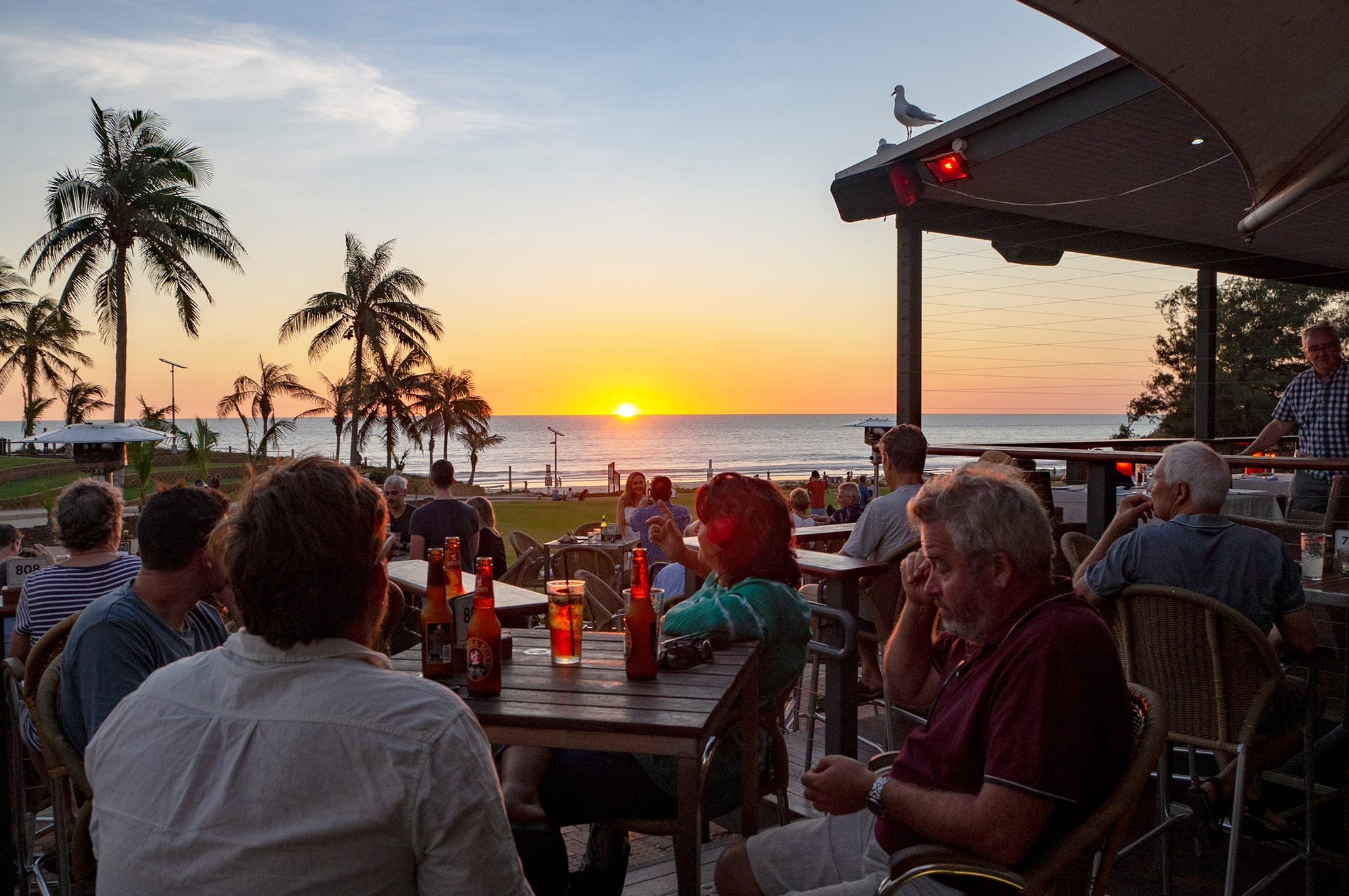 Cable Beach Club sunset bar view