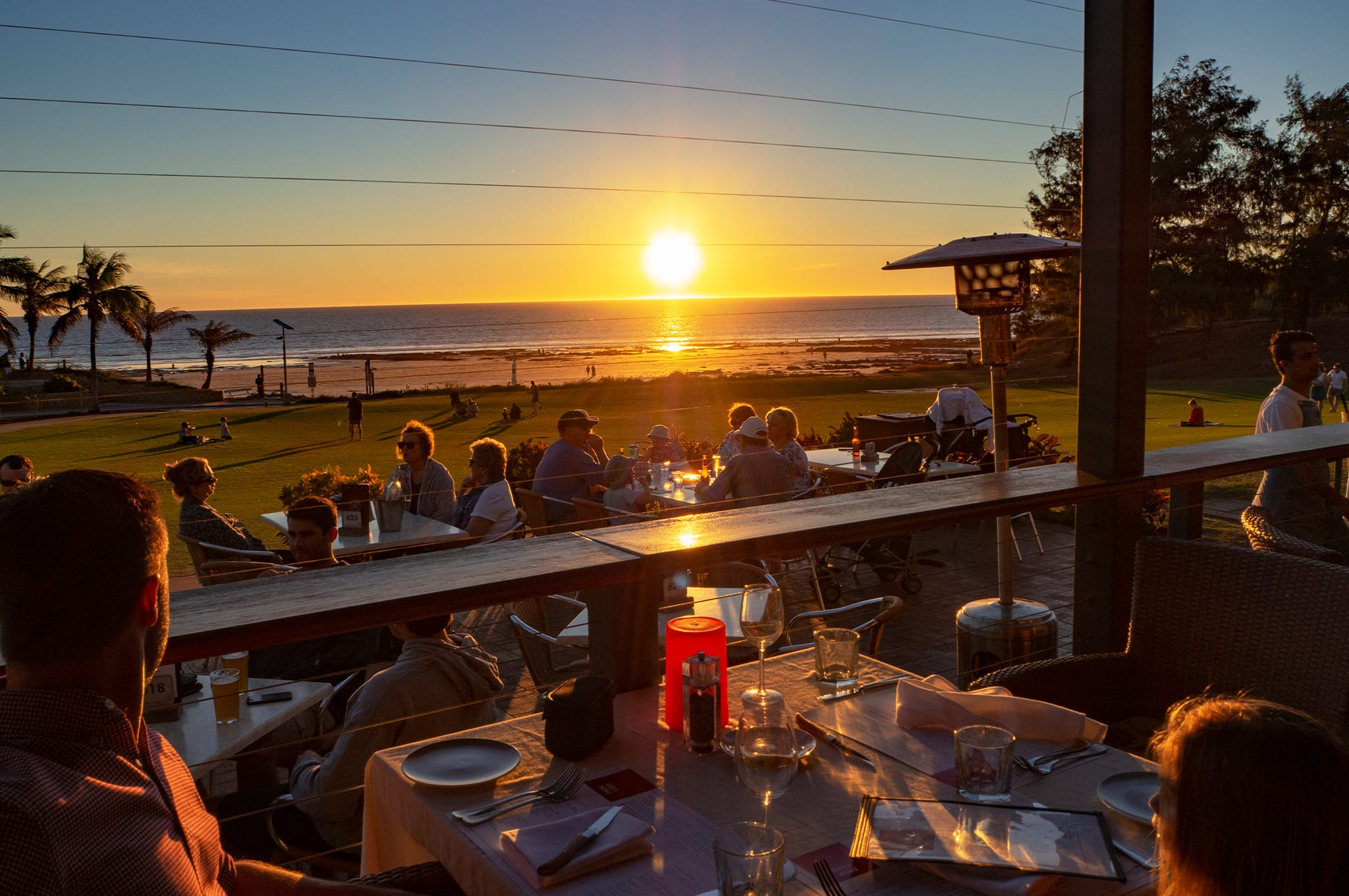 Cable Beach Club sunset bar and grill view