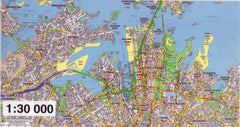 Sydney 6 Sheet Map UBD 2060 x 2000mm Laminated Wall Map
