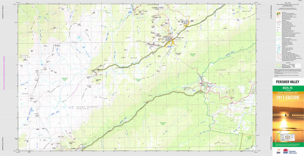 Perisher Valley 8525-2S Topographic Map 1:25k