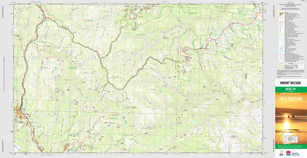 Mount Wilson 8930-1N Topographic Map 1:25k